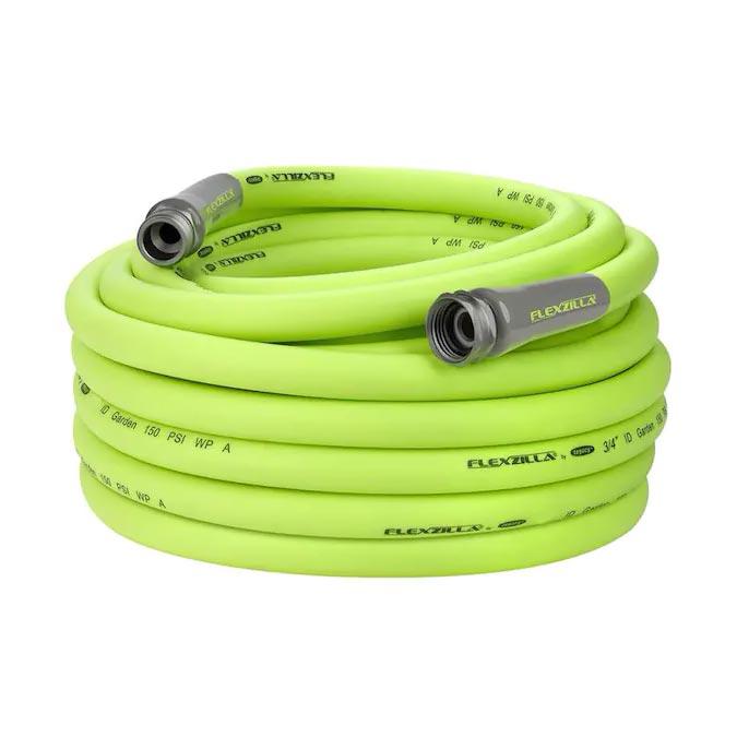Flexzilla Garden Hose 3/4in x 75ft 3/4in   11 1/2 GHT Fittings