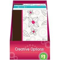 Frontline 9916 Pretty Note Pad, 50 Sheet, Black/White/Hot Pink