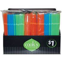 Cook's Kitchen 8864 Assorted Drinking Straw, Plastic
