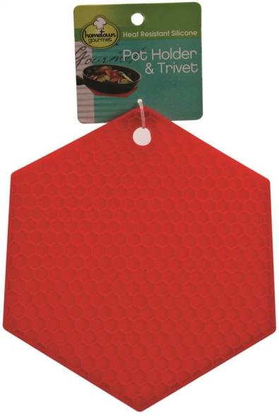 Hometown Gourmet 6069 Heat Resistant Pot Holder and Trivet Silicone