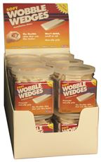 FOCUS 12 WOBBLE WEDGES�, SOFT, WHITE, 12 PACK COUNTER DISPLAY