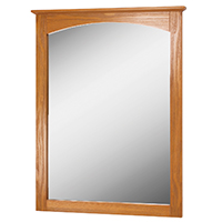 MIRROR 21X28 OAK WORTHINGTON