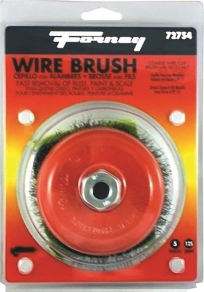 BRUSH CUP WIRE CRIMP 5X.014""