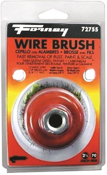 BRUSH CUP WIRE KNOT 2-3/4IN