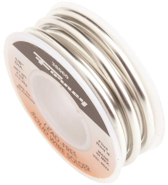 Forney 38060 Solid Core Solder, 1/4 lb Roll, Solid, Gray