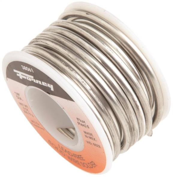 Forney 38061 Solid Core Solder, 1/2 lb Roll, Solid
