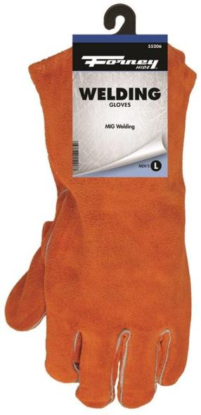 Forney 55206 Industrial Welding Gloves, Men?s, Large, Kevlar, Brown, Cotton Interlock Lining