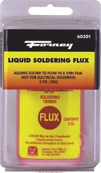 Forney Industries 60301 Soldering Flux, 2 oz, Liquid, Red