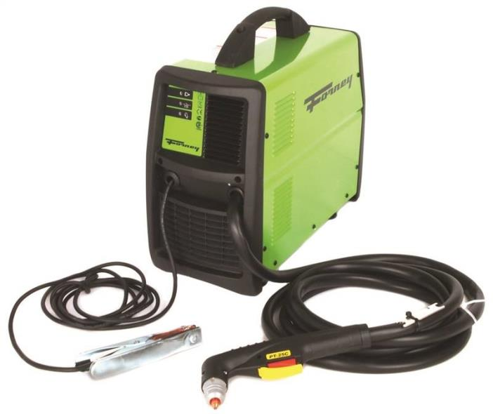 Forney Industries 317 Rectangle Plasma Cutter With Built-In Air Compressor, 120 V Input, 12 A Input, Metal, Green