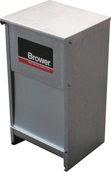 Brower DF25 Pet Feeder, 25 lb Capacity 12-1/2 in W x 11 in L x 25 in H x 28 ga T, Steel