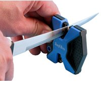 Accusharp Sharp N Easy 2-Step Knife Sharpener, Rubber Grip, Blue