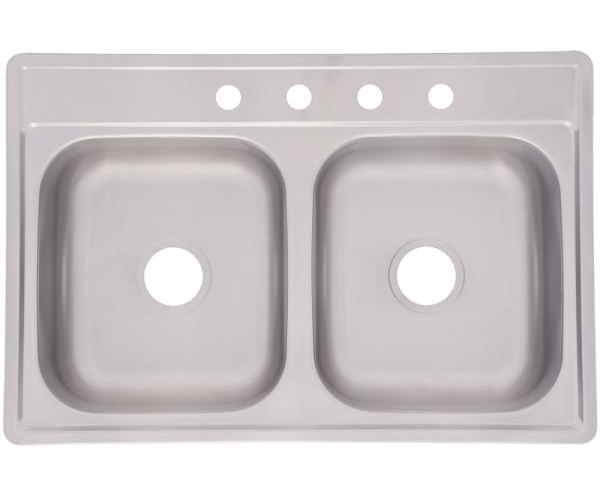 33X22X6 Inches Double Bowl Stainless Steel Sink