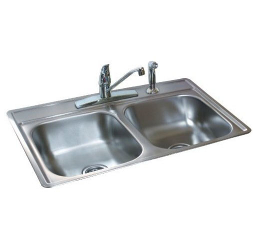 FDS654N 33 x 22 x 6.5 Double Bowl Stainless Steel Sink