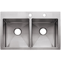 Franke HF3322-2 Kitchen Sinks, Double Bowl, Stainless Steel