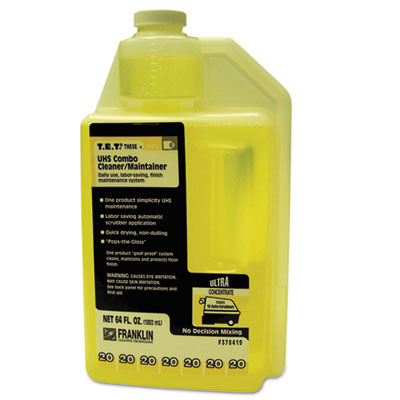 T.E.T. #20 UHS Combo Floor Cleaner/Maintainer, Citrus Scent, 2qt. Bottle, 2/CT