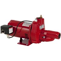 Red Lion RJC-50 Convertible Jet Pump, 1/2 hp, 1-1/4 in FNPT Inlet, 1 in FNPT Outlet, 115/230 V, 11.2/5.6 A
