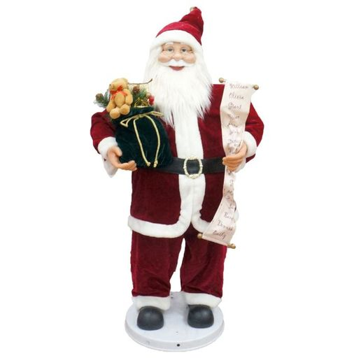 "36"" Santa With Toy Sack And Scroll (Dancing/Music)"