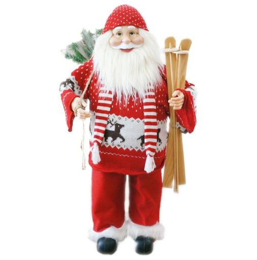 "36"" Santa With Sweater And Skis (Music)"