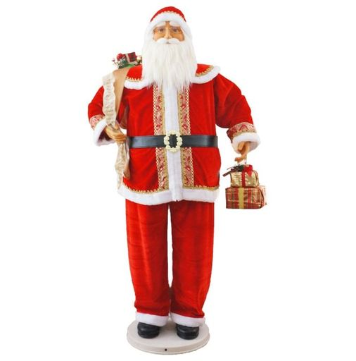 """58"""" Santa With Gifts In Hand (Dancing/Music)"""