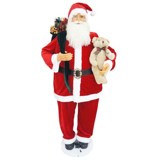"""58"""" Santa With Bear (Dancing/Music)"""
