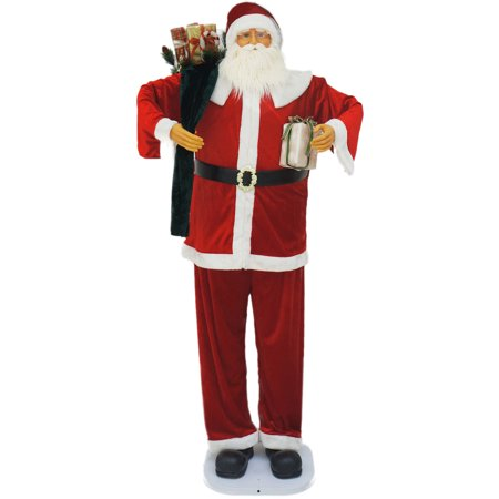 "76"" Dancing/Music Santa with Gifts in Hand"
