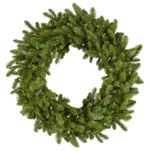 "Fraser Hill Farm 48"" Grandland Wreath - Clr LED Lght, Battery Op"
