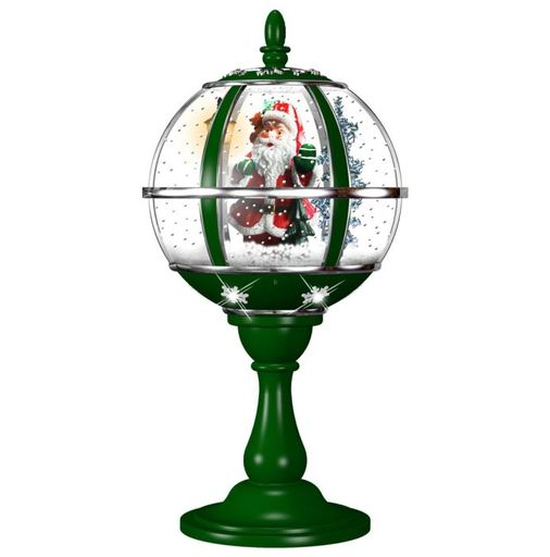 "Fraser Hill Farm 23""H Tabletop Snowy Santa Globe"