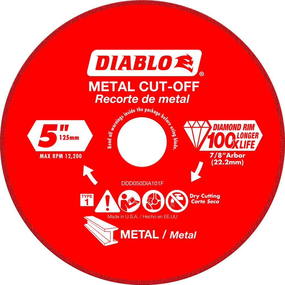 DISC METAL CUTTING DIAMOND 5IN