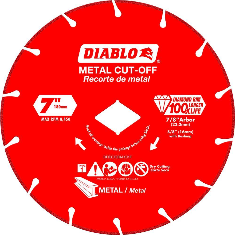 DISC METAL CUTTING DIAMOND 7IN