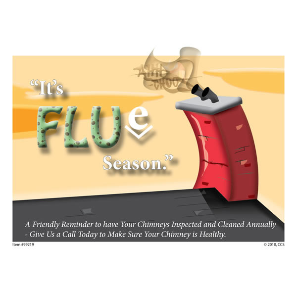Flue Season Appointment Postcard, Pack Of 250