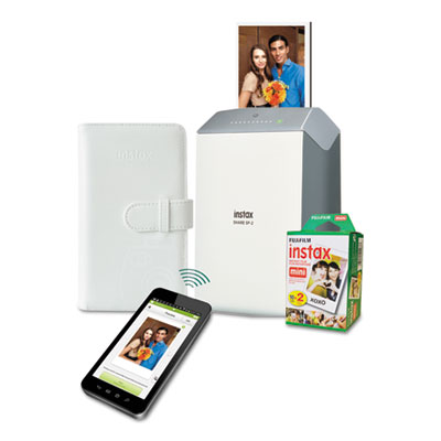 instax SHARE SP-2 Photo Printer Bundle, w/ Mini Film (20 shots); Photo Album