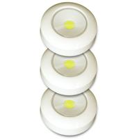 TAP LIGHT STICK-ON WHITE 3PACK