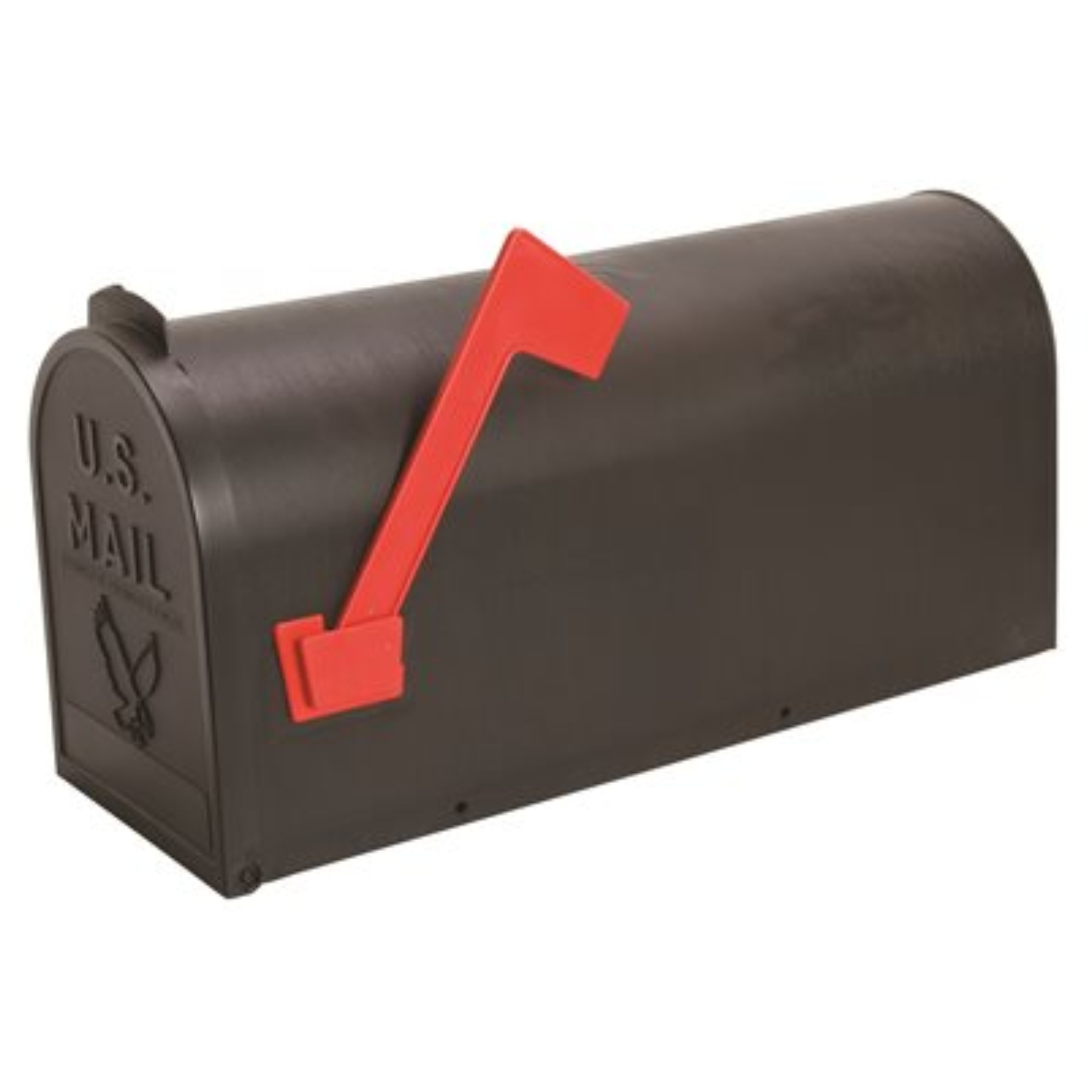 #1 WEATHERPROOF MAILBOX, POLY BLACK