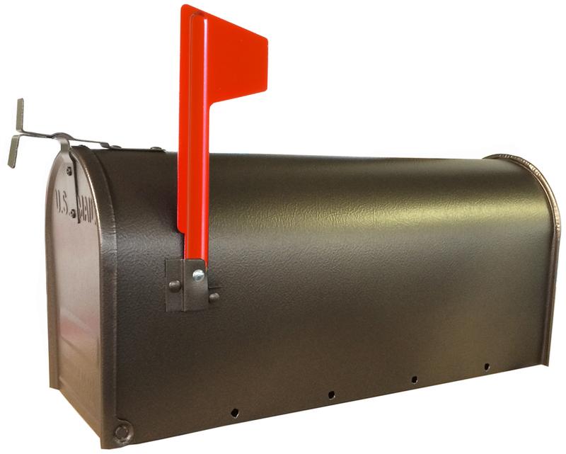 1C-BRN T1 OR BRZ STEEL MAILBOX