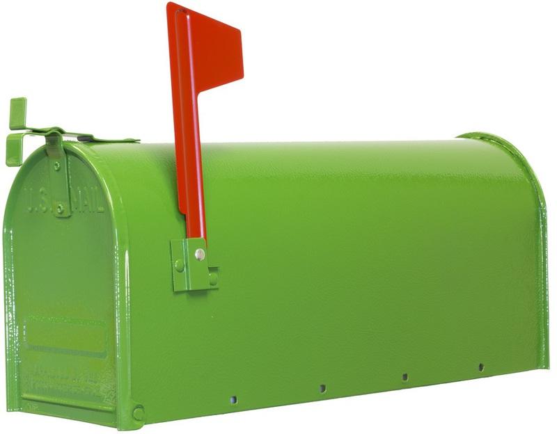 1C-GRN T1 JD GRN STEEL MAILBOX