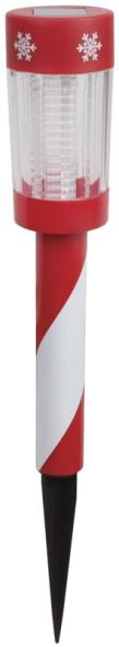 STAKE LIGHT STRIPED XMAS SOLAR