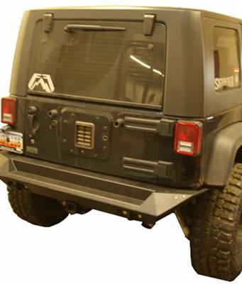 Rear Base Bumper with D-ring and CB Antenna Mount in Black Powder Coat