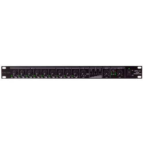 Factor 12 in-5 Out 1U Rack Mount Pre-Amp