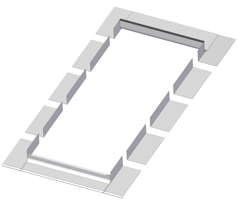 FAKRO ELW-69208 Step Flashing  FOR 24X46, 24X38