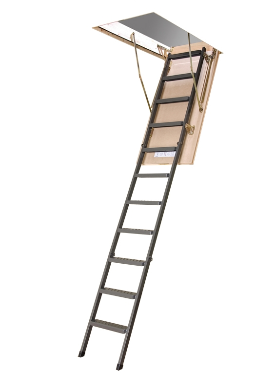 "LMS 22""x47"" Metal Insulated Attic Ladder, 350 lbs"