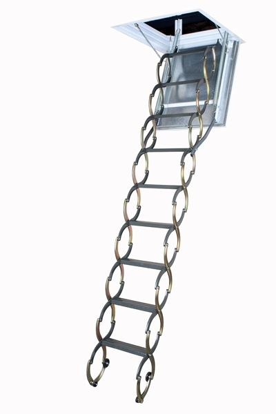 "LSF 22""x47"" Scissor Fireproof Door Insulated Attic Ladder"