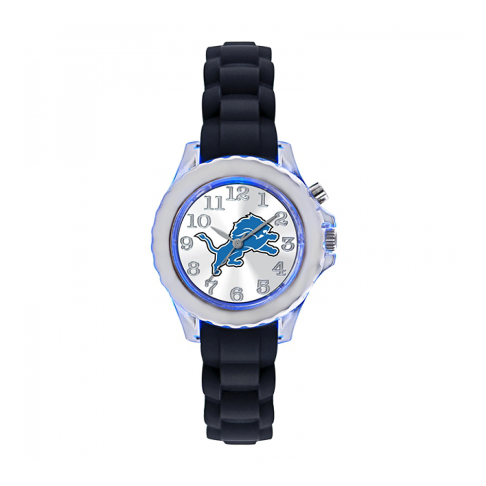Detroit Lions Kids Watch NFL Football Flash Black