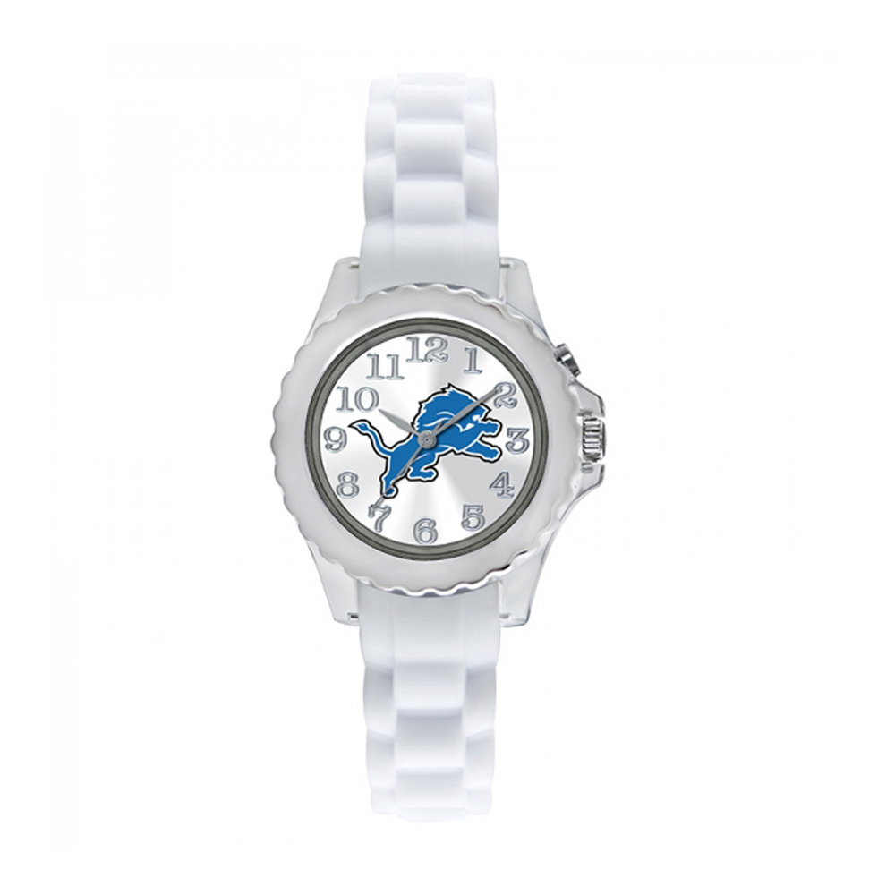 Detroit Lions Youth Watch NFL Football Flash White