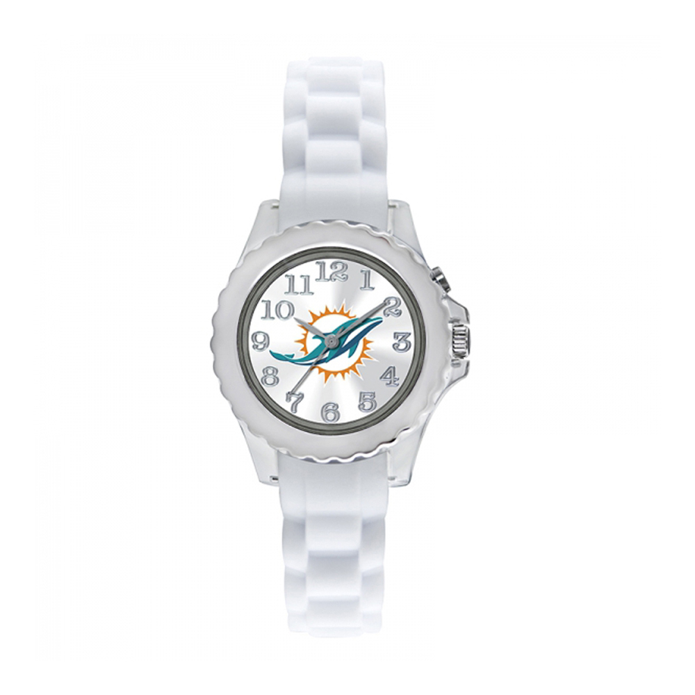 Miami Dolphins Youth Watch NFL Football Flash White