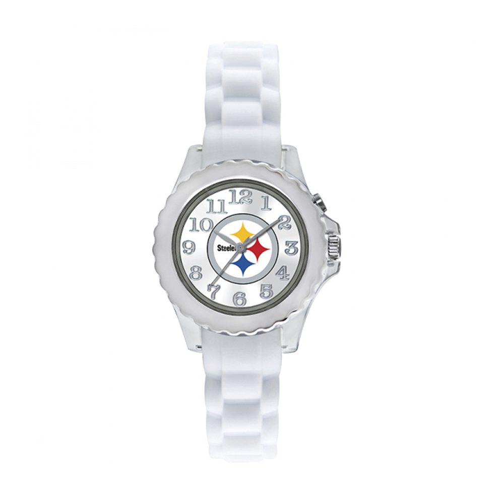 Pittsburgh Steelers Youth Watch NFL Football Flash White