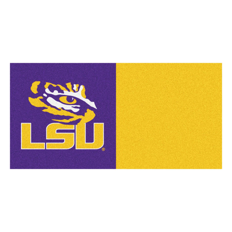 "Fanmats Louisiana State Carpet Tiles 18""x18"" tiles"
