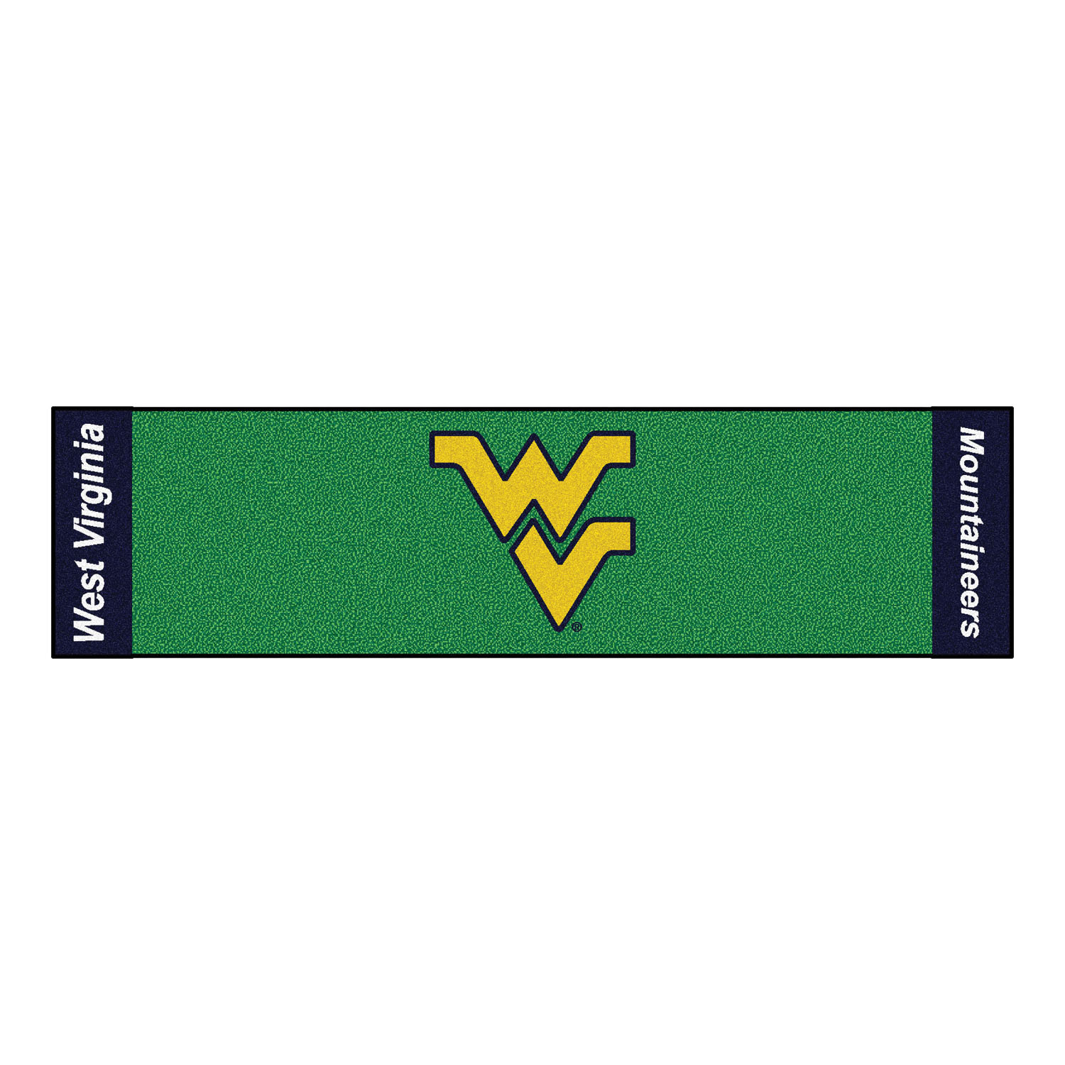 "Fanmats West Virginia Putting Green Runner 18""x72"""
