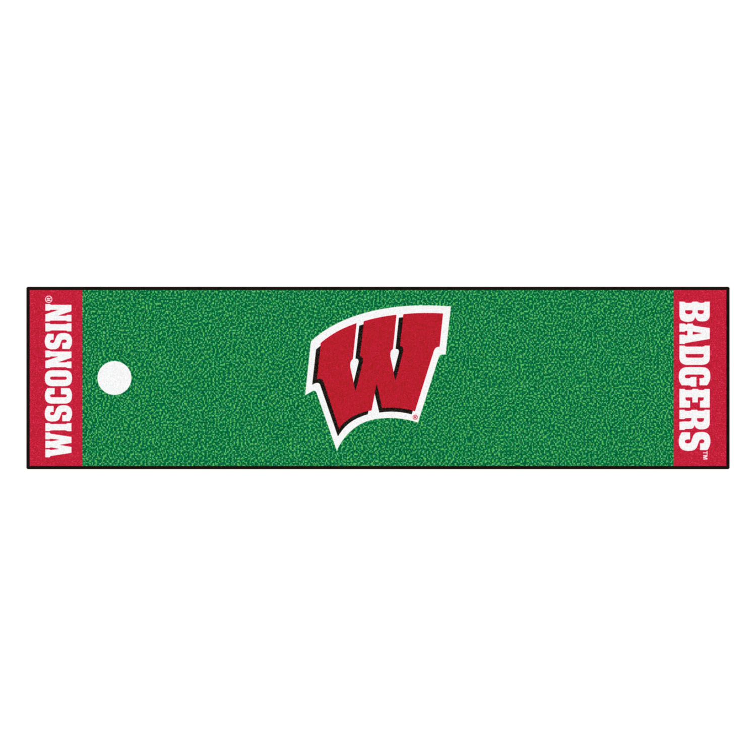 "Fanmats Wisconsin Putting Green Runner 18""x72"""