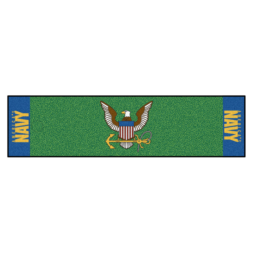 "Fanmats NAVY Putting Green Runner 18""x72"""