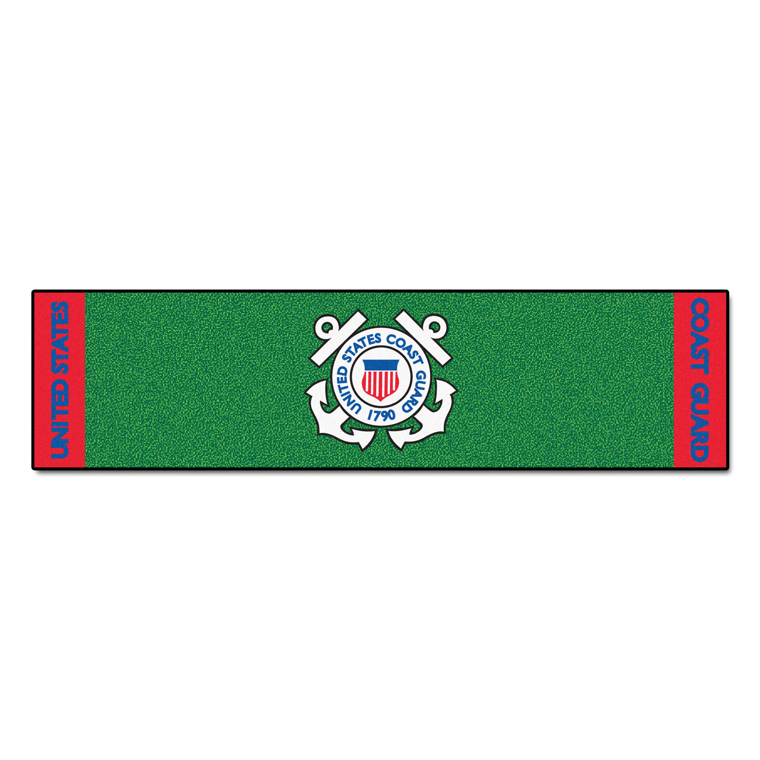 "Fanmats US Coast Guard Putting Green Runner 18""x72"""